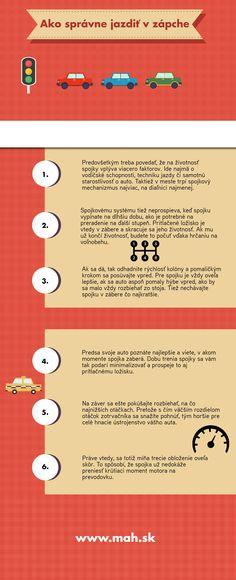 [Infografika] Ako správne jazdiť v zápche - MaH, s. Motorbikes