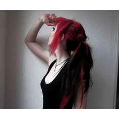 emo red hair. simple wy to style it. with that kind of cut, just about anything looks cute! that's what i lOvE about it.