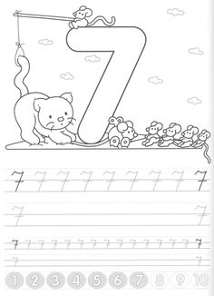 Writing numbers worksheets for preschool and kindergarten - Kids Art & Craft Kindergarten Math Games, Kids Math Worksheets, Number Worksheets, Preschool Math, Fun Math, Pre K Activities, Alphabet Activities, Classroom Activities, School Lessons