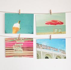 Postcard Set Seaside Photography Affordable Art Gift by CassiaBeck