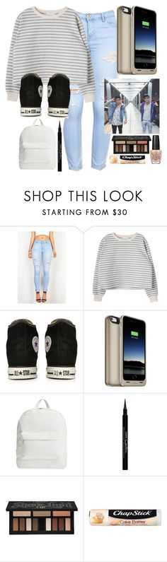 """""""Airport with the Dolan Twins"""" by malrocks2003 ❤ liked on Polyvore featuring Converse, Mophie, Dolan, Amici Accessories, Givenchy, Kat Von D, Chapstick and OPI"""