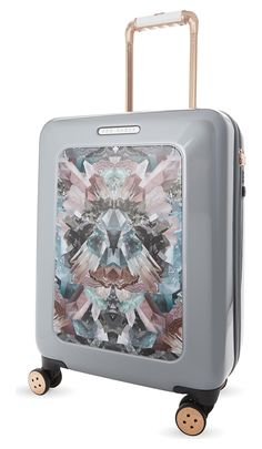 5c4001b63078 TED BAKER Mirrored minerals four wheel suitcase 54cm