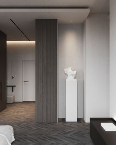 living room Foyer Design, Home Decor Inspiration, Interior Design Living Room, Minimalist Design, Entrance, Curtains, House, Furniture, Architects