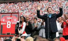 Steve Young's jersey retirement