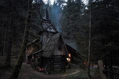 "aniraduath: "" Somewhere in the Bosnian Forest by Brice Portolano aniraduath.blogspot.com/cabin-inspiration """