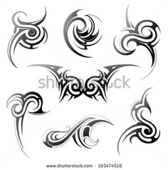 stock-vector-set-of-various-tribal-art-elements-183474518.jpg (450×455)