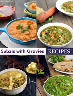 Subzi with Gravies Veg Recipes, Curry Recipes, Indian Food Recipes, Vegetarian Recipes, Cooking Recipes, Healthy Recipes, Indian Foods, Indian Snacks, Cooking Tips