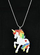 Rainbows & Unicorns Necklace..It's a uincorn!