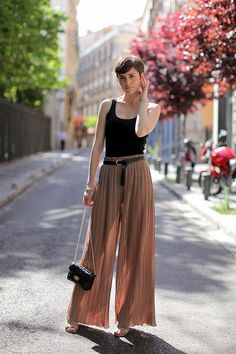 Nothing more chic than a simple black tank.