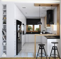 Znalezione obrazy dla zapytania kuchnia KSZTAŁCIE LITERY U Small Modern Kitchens, Modern Kitchen Interiors, Contemporary Kitchen Design, Kitchen Pantry Design, Home Decor Kitchen, Interior Design Kitchen, Kitchen Furniture, Casas En Atlanta, Minimalist Kitchen Cabinets