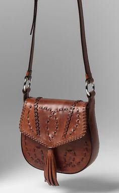 Alberta Ferretti Leather Saddle Bag in Light Brown   Santa Fe Dry Goods & Workshop #alberataferretti #leather #saddlebag #purse #bag #handbag #southwest #fashion #style #accessorie #virginleather #santafe #santafedrygoods