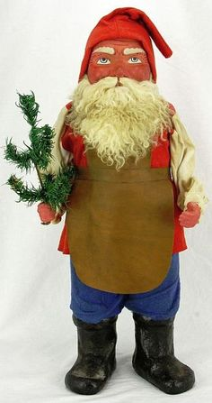 """Antique Large RARE German """"Santa at Work""""  Candy Container Ca1920."""