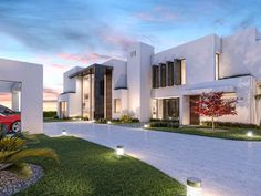 Building and architecture projects in Marbella and Madrid. We are developers, architects specializing in luxury modern villas home building. Luxury Modern Homes, Luxury Homes Dream Houses, Modern Mansion Interior, Modern House Facades, Modern House Design, Living Room Home Theater, Interior Design Examples, Townhouse Designs, Villas