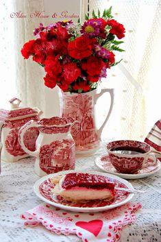 Aiken House & Gardens: Red Transferware Valentine's Tea