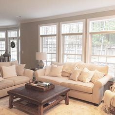 One of the things we really loved when we first saw our house was all the natural light that shines through the wall of back windows. We still need to figure out window treatments but for now we like it bright and airy! Sharing for the #TheIGDreamHome and #odetomyabode @lynnkruger @life_with_alita care to share for either tag?  #BrightWhiteWednesday #refinethedesign #thosewindowstho #MakesMeSmileThursday by erinw_home