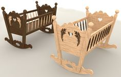 rocking baby cradle 3ds - ROCKING BABY CRADLE... by N.DESIGN