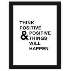 Think positive, Plakaty w ramie
