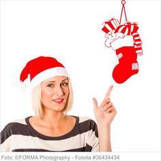 Wandtattoo Weihnachten - Nikolaussocke an Schnur