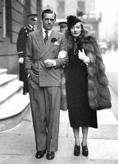 Marlene and Douglas Fairbanks Jr, 1937    Oh, the GLAMOUR!!