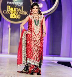 Sana Abbas red lehnga   More on IndianWeddingSite.com