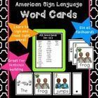 American Sign Language Vocabulary Cards This product was developed as a supplement for teaching deaf and hard of hearing students using the Reading...