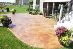 Staining Concrete Patios: Staining Concrete Patio Pavers