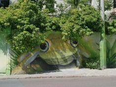 Street art! #frog