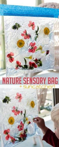 Sensory bags are easy and fast to make, gives the kids something to explore, and they're entertaining for toddlers! This nature sensory bag is no exception. Explore Spring with a Nature Sensory Bag that's super easy to DIY! Nature Activities, Spring Activities, Infant Activities, Preschool Activities, Toddler Activities For Daycare, Nature Based Preschool, Outdoor Activities For Toddlers, Sensory Bags, Sensory Bottles