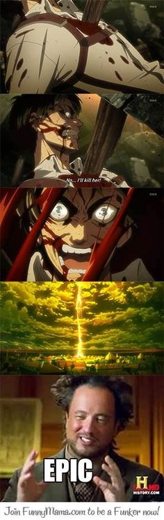 Epic is an understatement. This is the reason why my favorite character is Eren.