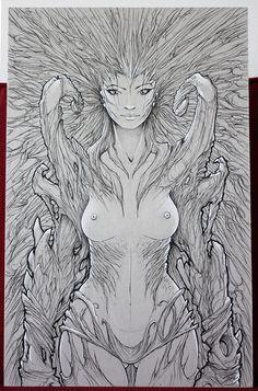 femme arbre format 32x50