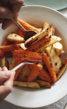 Try the Waitrose Christmas recipe for honey-glazed roast carrots and parsnips. Top tip – cook them at the last minute, when the turkey is resting and the potatoes are nearly done.