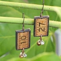 Items similar to Vintage Ruler Charm Earrings - Brown Ruler on Etsy Ruler Crafts, Wooden Ruler, Grandmother Jewelry, Soldering Jewelry, Homemade Jewelry, Jewelry Crafts, Jewelry Wall, Paper Jewelry, Making Ideas