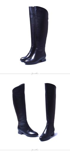 huge selection of 1f810 2c9b2 Aliexpress.com  Comprar Las mujeres de La Rodilla Negro Botas Altas de  Cuero…