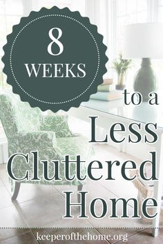 Is your home in need of some major decluttering? Can't seem to get ahead of the clutter? Here's a great technique to reduce clutter in the home in just eight weeks. Your clutter doesn't have to own you anymore, spend the next 40 days reclaiming your home!