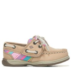 Sperry Top-Sider Kids' Intrepid Jr Leather Boat Shoe Toddler/Preschool Shoes (Tan/Multi) - 11.5 M