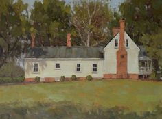 """Farmhouse at the Creek"" by Beth Marchant Oil (Plein Air) Shed, Farmhouse, Outdoor Structures, Fine Art, House Styles, Pictures, Paintings, Oil, Inspiration"