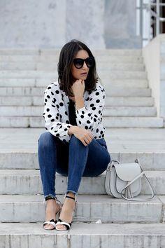Friday Wear: Polka Dot Top