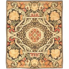 """""""Antique Bessarabian Carpet  Romania  Late 19th Century  Antique Bessarabian Rug from Romania, late nineteenth century - While the weave, coloration, and naturalistic drawing style identify this charming little rug as an antique Bessarabian from Romania, the composition with its openwork octagon and the interlacing effect of the vines betray the influence of the English Arts and Crafts movement, especially the designs of William Morris. Rarely do we see the traditions of eastern and Western…"""