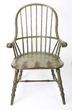 Green Distressed Windsor Chair