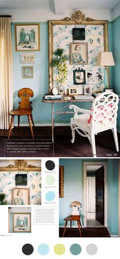 Can't get over turquoise. Hoping to take the dark blue in the guest room and turn it to grey and turquoise.