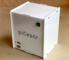 piCentr is an Open Source enclosure designed specifically for people who wish to build a media center PC using the Raspberry The layout of the enclosure is meant to keep all cabling tidy and inside out of view, with accessible ports for everything yo Computer Projects, Robotics Projects, Computer Build, Kid Projects, Project Ideas, Arduino, Diy Tech, Cool Tech, Diy Electronics
