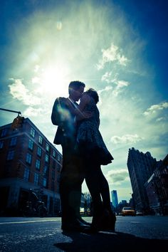 creative urban New York City engagement photos by Cengiz Ozelsel from Adagion Studio