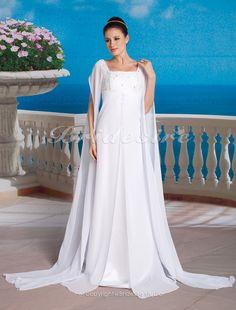 The Green Guide Sheath Column Chiffon Square Floor Length Empire Maternity Long Sleeve Wedding Dress 249430 Us 187 99