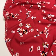 Pink And White Flowers, Viscose Fabric, Hot Days, Keep Your Cool, Red Background, Dressmaking, Floral Tops, Trousers, Range
