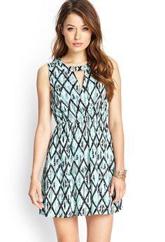 Surplice Ikat Print Dress | FOREVER21 - 2000104861