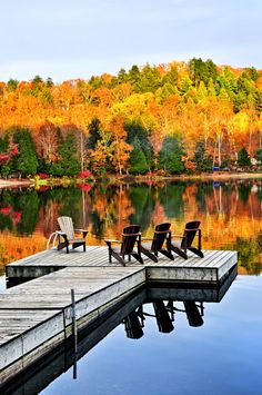 Wooden dock on autumn lake by Elena Elisseeva / 500px