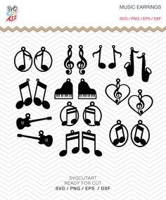 Music Earrings SVG, leather earrings, music notes, piano svg, guitar s… Diy Leather Earrings, Diy Earrings, Leather Jewelry, Music Jewelry, Jewelry Crafts, Jewelry Ideas, Diy Laser Cutter, Animal Earrings, Diy Bow