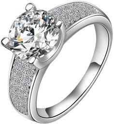 Aaishwarya 18K Platinum Plated Dazzling Alloy Zircon Ring