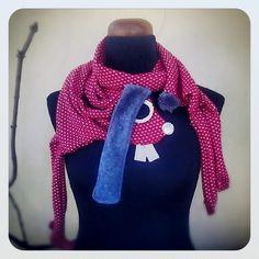 My handmade bunny scarf :)