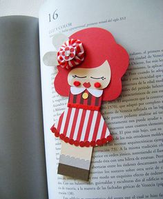 Doll bookmark.
